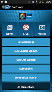 FIBA Europe - screenshot