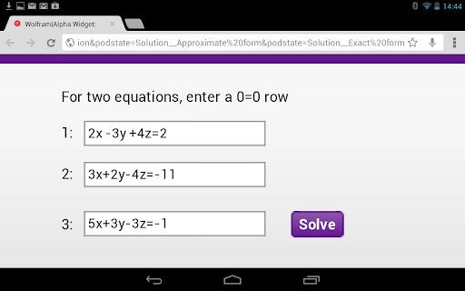 Linear Equations Calculator