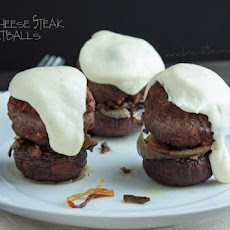 Philly Cheese Steak Meatball (Low Carb and Gluten Free)