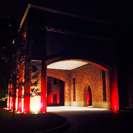 by Lori Broussard - Instagram & Mobile Instagram ( red, lights, aspire, colors, night, darkness, group, htown, houston )