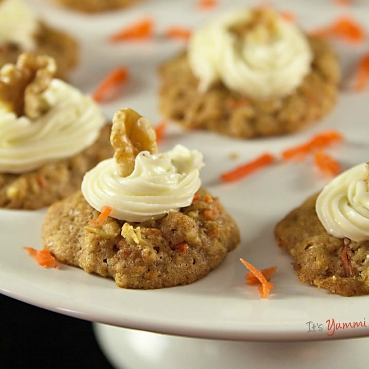 Orange-Carrot Cookies with Cream Cheese Frosting Recipe | Yummly