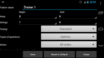 Screenshot of Bass Guitar Note Trainer