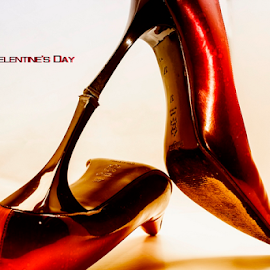 Happy Valentine's Day by Riad Zbeida - Artistic Objects Clothing & Accessories ( love, shoes, red, happy valentine's day, party )