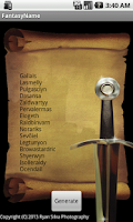 Screenshot of Fantasy Name