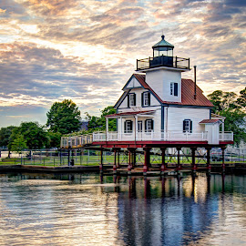 Roanoke River Lighthouse by Tony Cox - Buildings & Architecture Other Exteriors