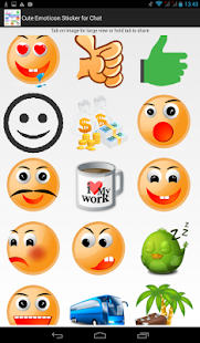 Cute Emoticon Sticker for Chat - screenshot