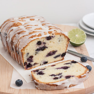 Blueberry-Lime Cream Cheese Pound Cake