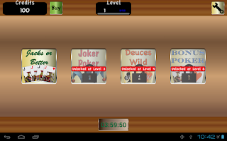 Screenshot of TouchPlay Video Poker Casino
