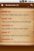 Screenshot of Holy Bible Verses