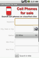 Screenshot of Find Used Cell Phones