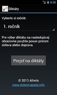 Diktáty - screenshot
