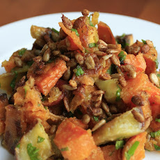 Roast Sweet Potato (Kumura) Salad with Toasted Cumin, Lime, and Fresh Mint
