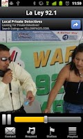 Screenshot of La Ley 92.1