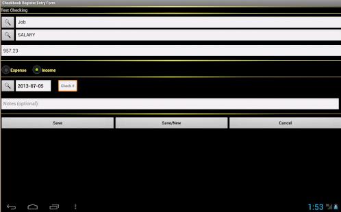 checkbook register (android)