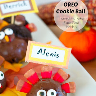 OREO Cookie Ball Turkey Place Card Holders