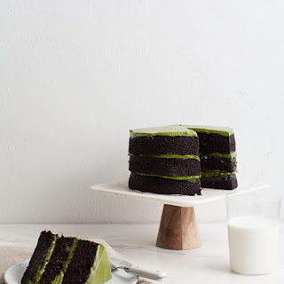 Triple Layer Chocolate Matcha Cake