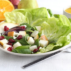 Roasted Red Onion and Pear Salad