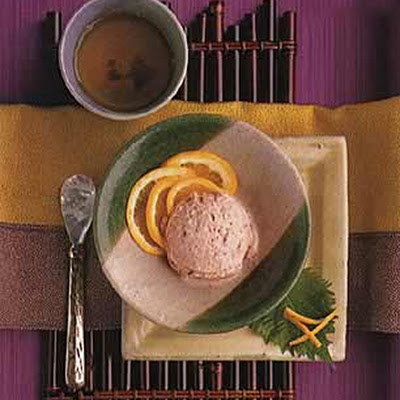 Plum Sherbert with Orange Juice and Plum Wine