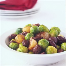 Sautéed Brussels Sprouts with Chestnuts