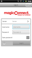 Screenshot of MagicConnect Viewer