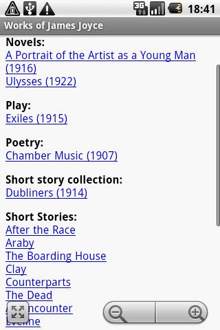 Works of James Joyce