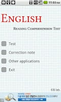 Screenshot of English Reading Comprehension