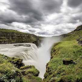 Gullfoss by David Long - Landscapes Waterscapes ( iceland, waterfall, gullfoss )