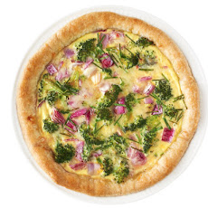 Broccoli and Red Onion Quiche
