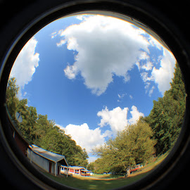 Sky Fisheye by Tracy Corello - Landscapes Cloud Formations ( clouds, sky )