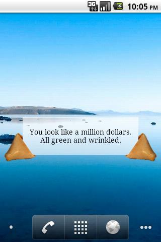 Fortune Cookie Message Widget