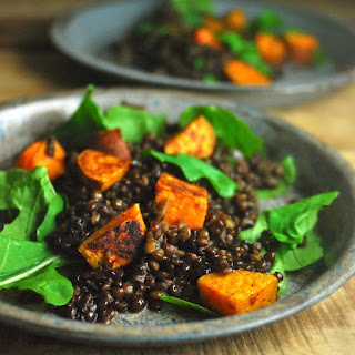 Lentil Sweet Potato Arugula Salad