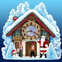 Christmas House Clock widget