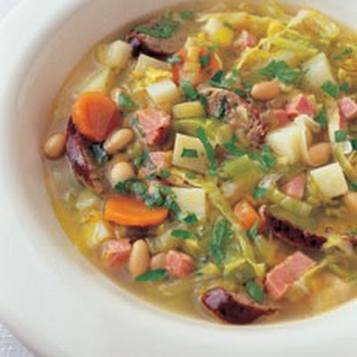 La Potee (French Farmhouse Soup with Bacon, Sausage and Beans)