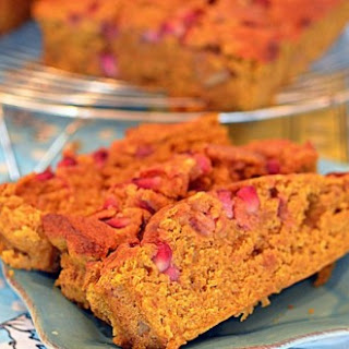 Pumpkin Pomegranate Walnut Bread