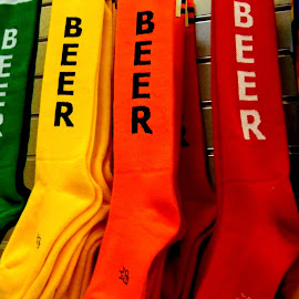 Beer socks...Just in case the cops need a reason. by Liz Hahn - Artistic Objects Clothing & Accessories