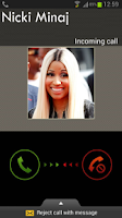 Screenshot of Nicki Minaj Calling Prank