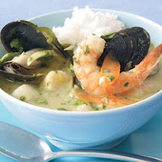 Thai Green Curry with Seafood