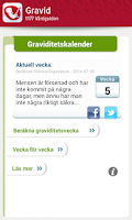 Screenshot of Graviditetskalender