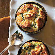Spinach and Parmesan Soufflés