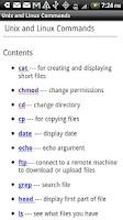 Screenshot of Unix & Linux Commands