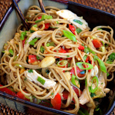 Serious Salads: Asian Chicken Noodle Salad with Ginger-Peanut Dressing