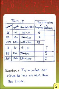 Vedic Maths - Vinculum Numbers - screenshot