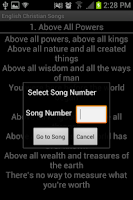 Screenshot of English Christian Song Book