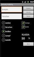 Screenshot of German Lithuanian Dictionary