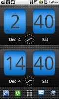 Screenshot of FlipClock Blue Magic Dark
