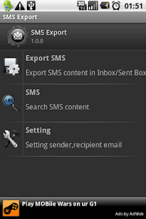 SMS Export - Text Export - screenshot