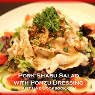 Pork Shabu Salad with Ponzu Dressing