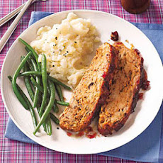 Turkey Meat Loaf with Cranberry Glaze