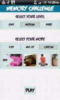 Screenshot of Memory Challenge