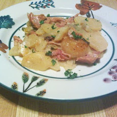 Ham and Scalloped Potatoes-Crock Pot Recipe